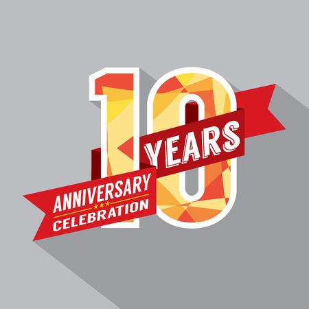 aniversario: 10mo A�os Aniversario Dise�o Celebraci�n Vectores