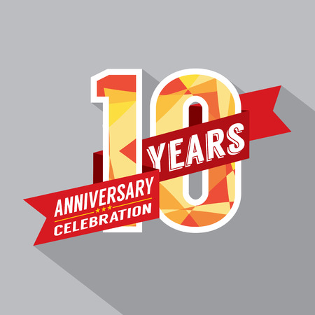 10 years: 10th Years Anniversary Celebration Design