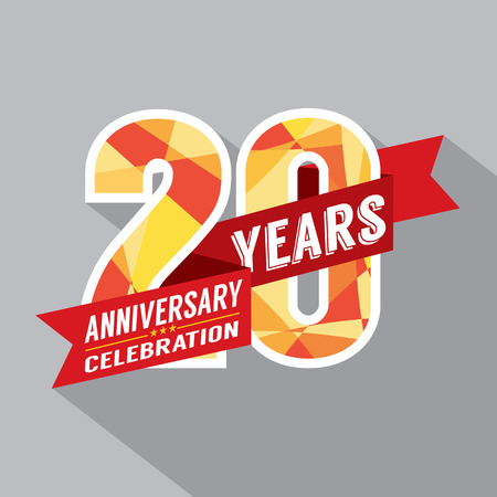 20 년 주년 기념 축하 디자인 일러스트
