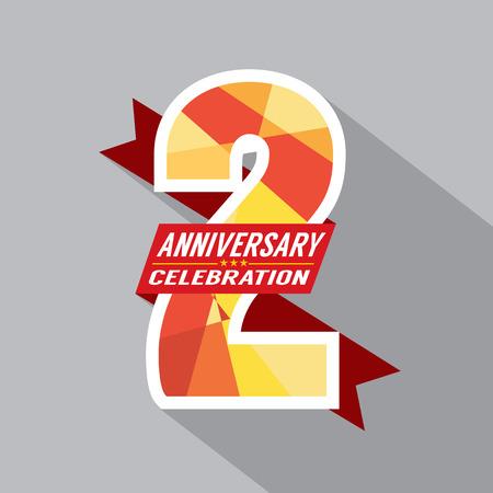 kutlamalar: 2th yaşında Yıldönümü Kutlama Tasarım