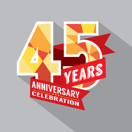 45th: 45th Years Anniversary Celebration Design