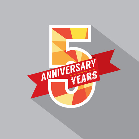 five year: 5th Years Anniversary Celebration Design