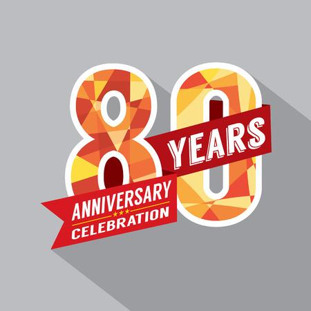 80 years: 80th Years Anniversary Celebration Design