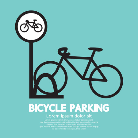 parking sign: Bicycle Parking Sign Vector Illustration