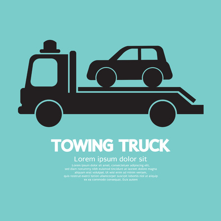 towing: Car Towing Truck  Illustration
