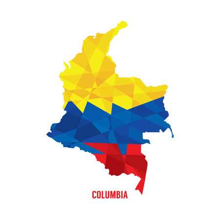 south america map: Map of Columbia  Illustration