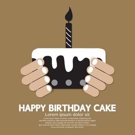 birthday candle: Happy Birthday Cake   Illustration