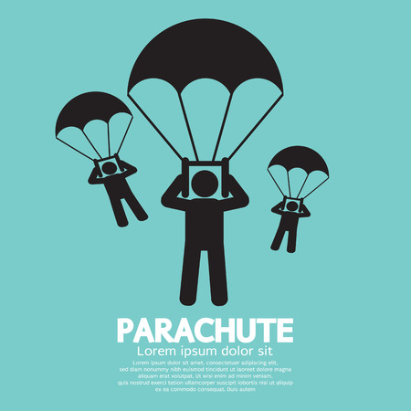 Parachutes Skydiving Sign