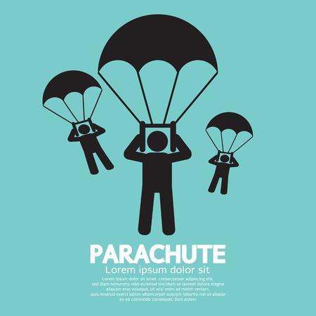 Parachutes Skydiving Sign