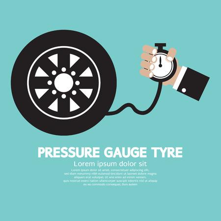 inflate: Pressure Gauge Tyre