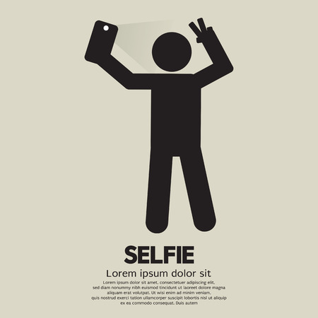taking picture: Selfie People Sign
