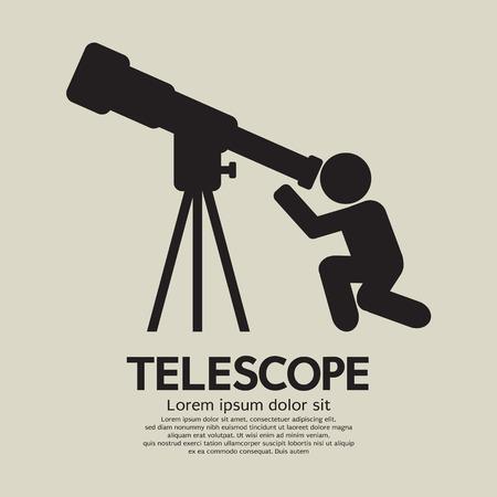 looking glass: Telescope Graphic Symbol