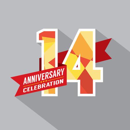 14th: 14th Years Anniversary Celebration Design