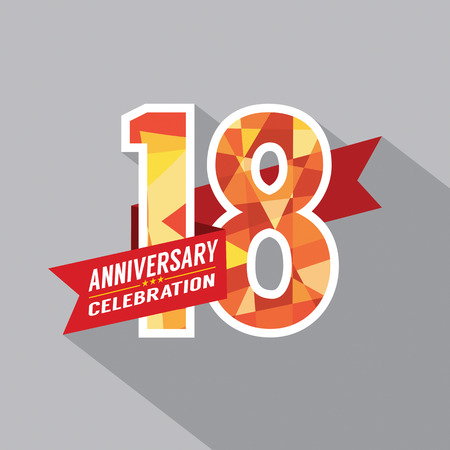 18th: 18th Years Anniversary Celebration Design