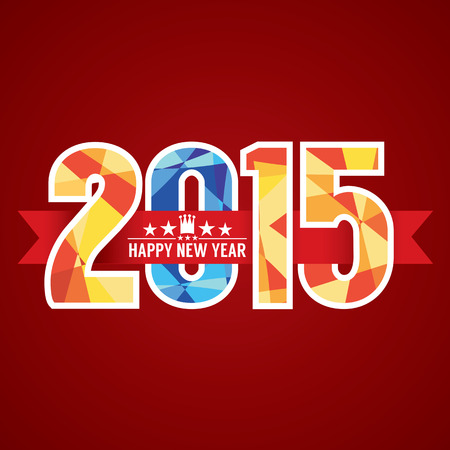 frohes neues jahr: 2015 Zusammenfassung Banner Vektor-Illustration
