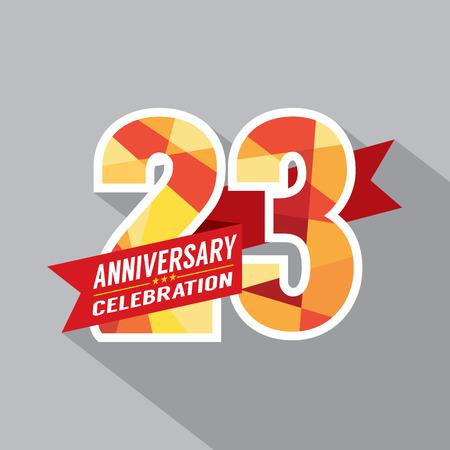 third birthday: 23rd Years Anniversary Celebration Design