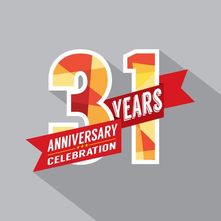 31: 31st Years Anniversary Celebration Design