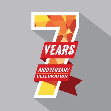 7th Years Anniversary Celebration Design Illustration