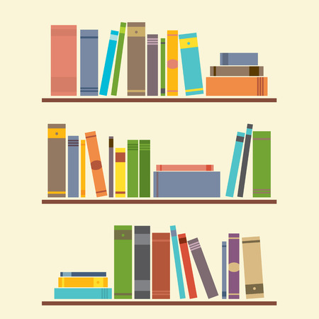 Bookshelf Graphic Illustration