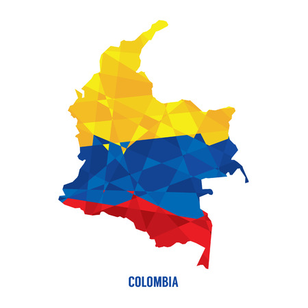 Map of Colombia Illustration  Vector