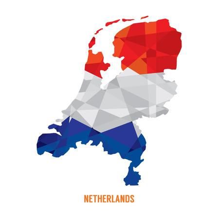 the netherlands: Kaart van Nederland Illustratie