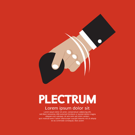 plectrum: Plectrum In Hand Illustration Illustration