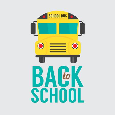 front and back: Back to School Illustration Illustration