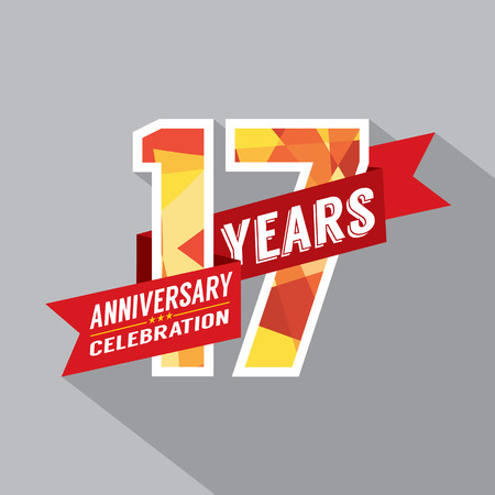17th: 17th Years Anniversary Celebration Design Illustration