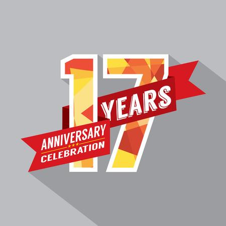 seventeen: 17th Years Anniversary Celebration Design Illustration