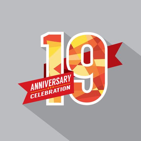 19th: 19th Years Anniversary Celebration Design