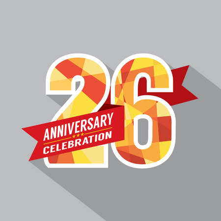 26th: 26th Years Anniversary Celebration Design Illustration