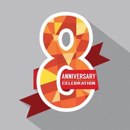 anniversary card: 8th Years Anniversary Celebration Design