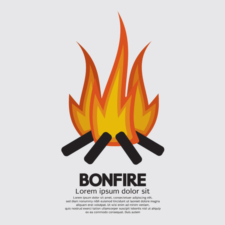 bonfire: Isolated Bonfire Graphic Illustration