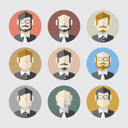 Modern Flat Design Men Icon Set Vector