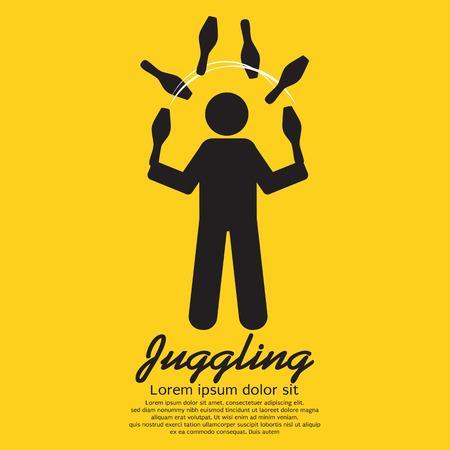 Juggling Graphic Sign Illustration Vector