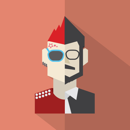 Modern Flat Design Conflict Character Man Icon