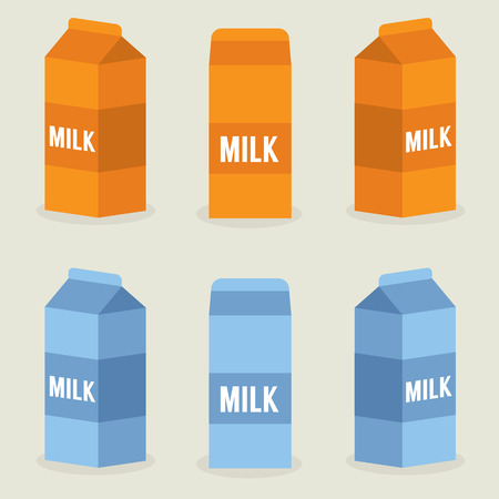 Milk Boxes Collection Illustratie Vector Illustratie