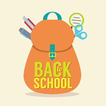 Back to School Concept Illustration Vector