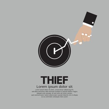 burglar man: Thief s Hand Turn On Door Knob