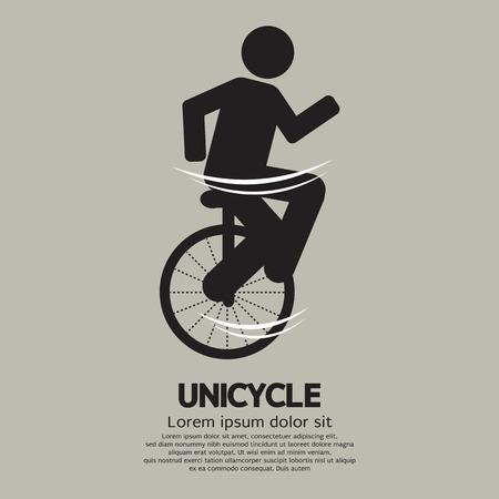 unicycle: Unicycle Graphic Sign Illustration Illustration