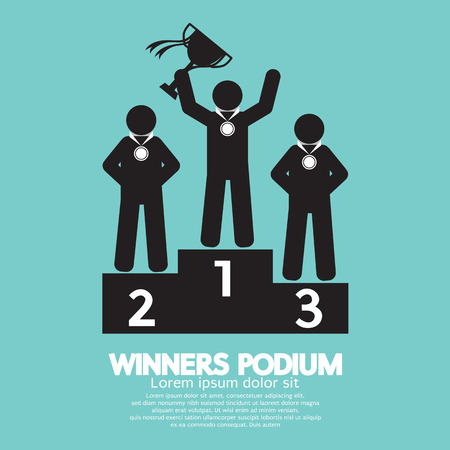 Winners Podium Symbol Illustration Vector