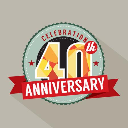 40: 40th Years Anniversary Celebration Design