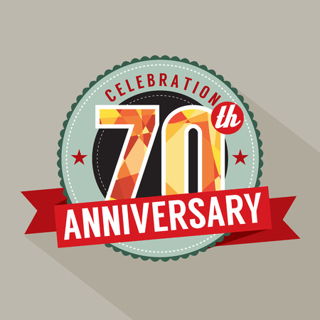 seventieth: 70th Years Anniversary Celebration Design