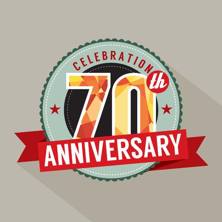 seventieth: 70th Years Anniversary Celebration Design