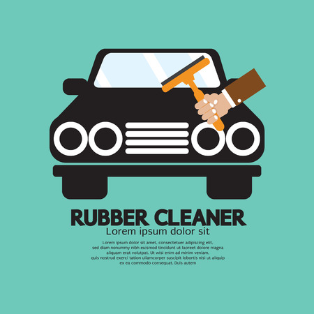 wet cleaning: Rubber Window Cleaner Vector Illustration Illustration