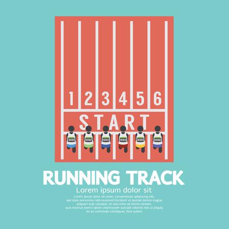 running track: Top View Renbaan Illustratie