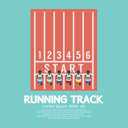 Top View Running Track Illustration Vector