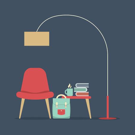 hot seat: Modern Design Interior Furniture Illustration