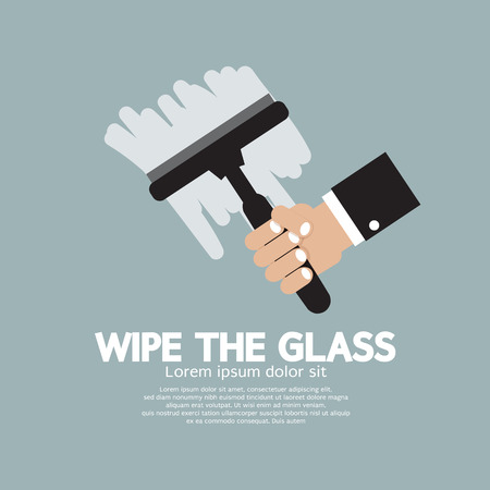 wipe: Wipe the Glass Illustration Illustration