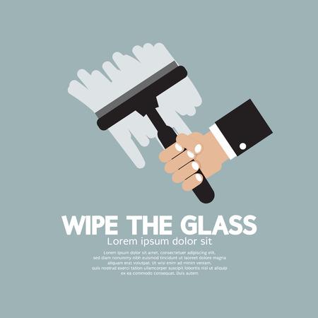 wipe: Wipe the Glass Illustration Illustration